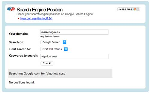 Search Engine Position